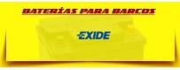 Comprar Baterías Exide para Lanchas, Barcos y Veleros en Barcelona. Baterías 12 Voltios.