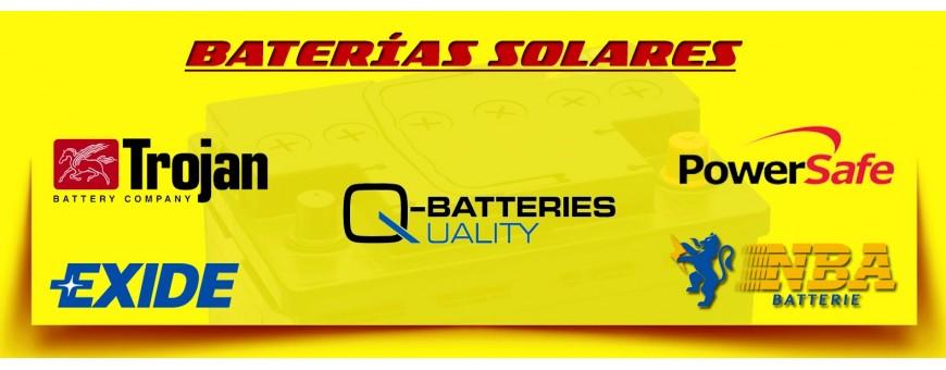 Comprar Baterías Solares en Barcelona. Tienda de Baterías 6 y 12 Voltios. Baterías de Agm/Gel.