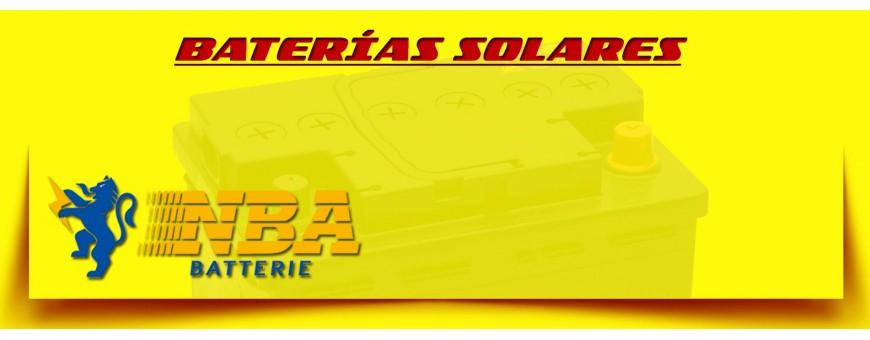 Baterías Cíclicas Solares Gel  Comprar Baterías Nba para Instalaciones Solares