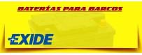 Tienda de Baterías Exide en Barcelona. Baterías 12 Voltios Gel para Lanchas, Barcos y Veleros.